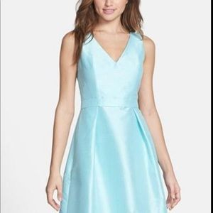Turquoise Alfred Sung dress